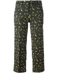 Milano Parigi Cropped Flared Trousers - Lyst