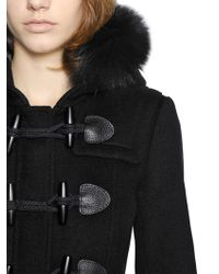 Burberry Brit | Blackwell Fox Fur & Wool Duffle Coat | Lyst