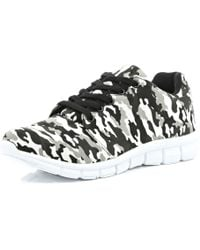 River Island Grey Camo Print Trainers - Lyst