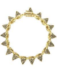 Eddie Borgo - Gold-plated Pavé Crystal Cone Bracelet - Lyst