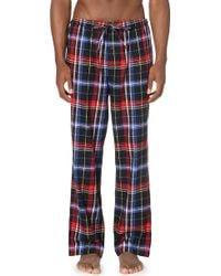 Pink Pony - Checked Flannel Pyjama Bottoms - Lyst