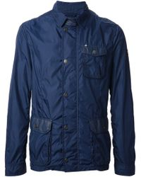 Armani Jeans Blue Fitted Jacket - Lyst