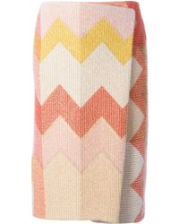 Missoni Zig Zag Crochet Knit Skirt - Lyst