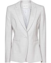 Reiss Valentina Blazer Tailored Blazer - Lyst