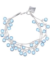 Anne Klein - Silvertone And Stone Layered Bracelet - Lyst