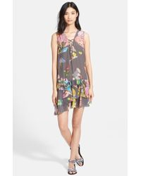 Zadig & Voltaire 'Rory' Ruffled Print Crepe Dress - Lyst