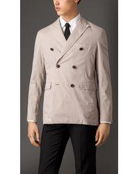Burberry Modern Fit Stretch Cotton Jacket - Lyst