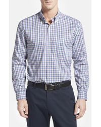 Cutter & Buck 'Evergreen' Classic Fit Plaid Sport Shirt - Lyst