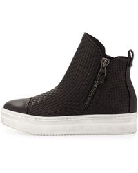 Henry Beguelin - Woven Leather Skate Boot - Lyst