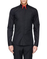Givenchy Metallic Star Contrast Collar Tip Shirt black - Lyst