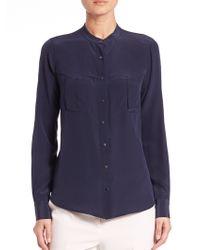 BCBGMAXAZRIA   Eleanorre Silk Crepe De Chine Shirt   Lyst