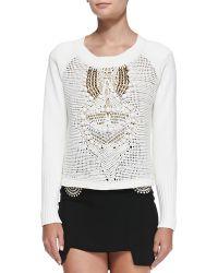 Sass & Bide Freeze Frame Crocheted Sweater - Lyst