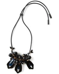 Marni Black Beaded Necklace - Lyst