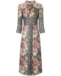 Vilshenko Multi Floral Sonya Dress - Lyst