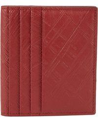 Maison Margiela Textured Leather Folding Credit Card Holder - Lyst