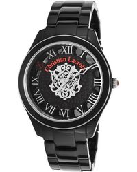 Christian Lacroix - Women's Black Acetate Patterned And Dial Acetate - Lyst