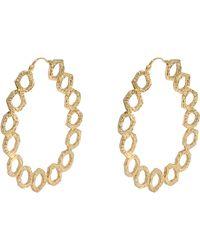 Isharya - Goddess Link Hoop Earrings - Lyst