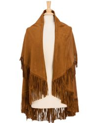 Look By M | Faux Suede Shawl | Lyst
