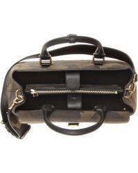 Burberry - Saddle Medium Printed Suede Shoulder Bag - Lyst