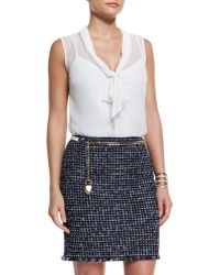 St. John - Leather Curb Chain Hip Belt With Heart Charm - Lyst