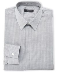 Calvin Klein Herringbone Pattern Dress Shirt - Lyst