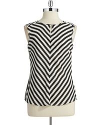 Laundry by Shelli Segal Striped Shell Top - Lyst