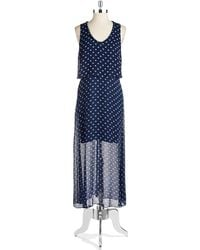 Two By Vince Camuto Polka Dot Maxi Dress - Lyst