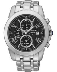 Seiko Men'S Chronograph Le Grand Sport Solar Stainless Steel Bracelet Watch 42Mm Ssc193 - Lyst