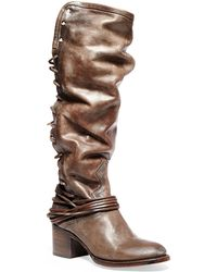 Freebird by Steven Coal Leather Boots - Lyst