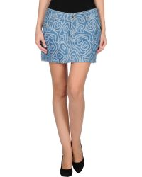 John Galliano Blue Denim Skirt - Lyst