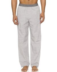 Calvin Klein Pajama Pants gray - Lyst