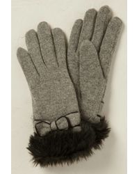 Anthropologie - Blaire Faux Fur Gloves - Lyst