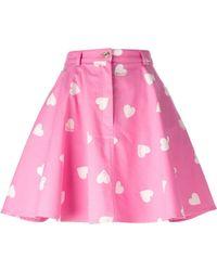 Moschino Heart Print Skirt - Lyst
