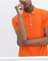 Zara Basic Piqué Polo Shirt - Lyst