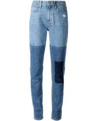 Paige Patchwork Boyfriend Jeans - Lyst