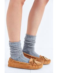 Minnetonka Brown Cally Moccasin - Lyst