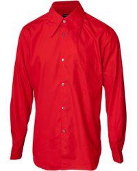 Comme Des Garçons Classic Button Cotton Shirt Red - Lyst