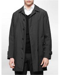 Calvin Klein White Label Elan Nylon Raincoat black - Lyst