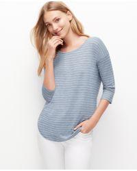 Ann Taylor Striped Shirttail Tee - Lyst