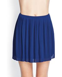 Forever 21 Pleated Chiffon Skirt - Lyst