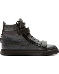 Giuseppe Zanotti Grey Croc_embossed London High_top Sneakers - Lyst