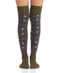 Free People Patterned Knee Socks - Lyst