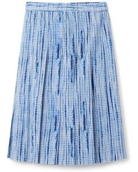 Tory Burch Cotton Pleated Skirt - Lyst