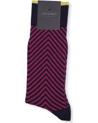Duchamp Zig Zag Texture Socks - Lyst