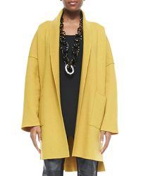 Eileen Fisher Boiled Wool Kimono Coat - Lyst