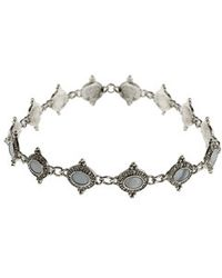 Topshop Engraved Mother Of Pearl Link Choker - Lyst