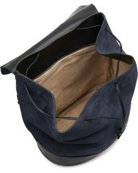 Tomas Maier - Suede And Leather Backpack - Lyst