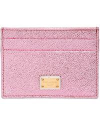 Dolce & Gabbana Dauphine Lamè Business Card Holder - Lyst