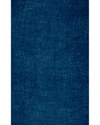 Barneys New York Blue Reversible Scarf - Lyst