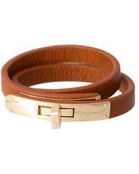 Bungalow 20 | Cognac Leather Wrap Bracelet | Lyst